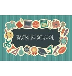 School vintage seamless background vector image vector image