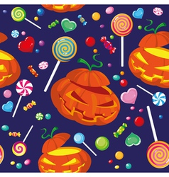 seamless halloween candy vector image