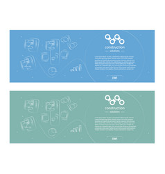 set web banner in style business minimalism ready vector image vector image