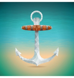summer holiday with triangle anchor vector image vector image