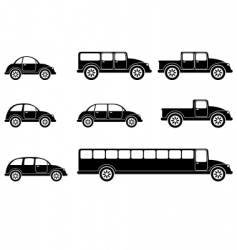 vehicles vector image vector image