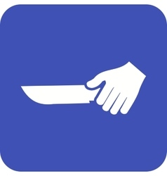 Holding knife vector