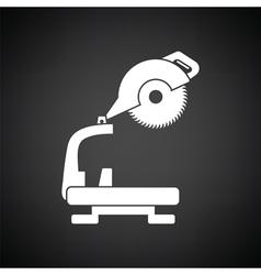 Circular end saw icon vector