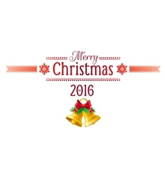 Merry Christmas icon set with Xmas icons color on vector image