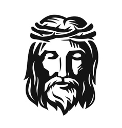Face of jesus vector