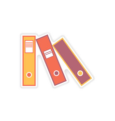 Stylish sticker on paper folders for documents vector