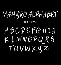 Mahyro uppercase alphabet typography vector