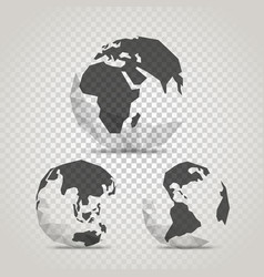 the earth with abstract world map infographic vector image