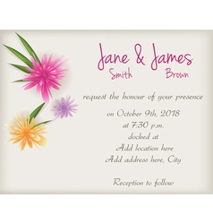 wedding abstract background vector image