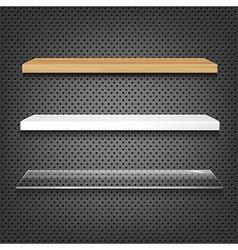 Different shelves vector
