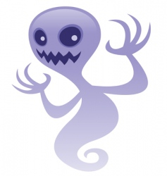 Grinning ghost vector