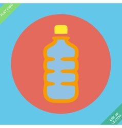 Plastic bottle with drink - vector