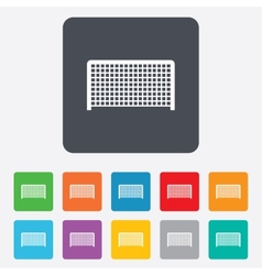 Football gate sign icon soccer sport symbol vector