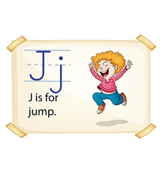 A letter j for jump vector