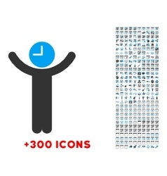 Time boss icon vector