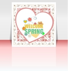 Welcome Spring Holiday Card Welcome Spring vector image