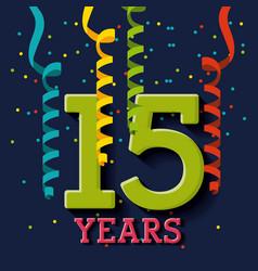 anniversary banner design vector image vector image