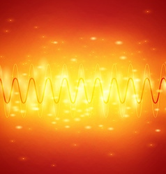 Bright sound waves background vector