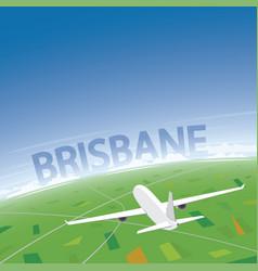 Brisbane flight destination vector