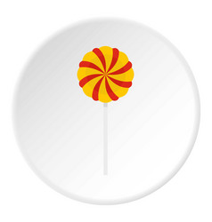 candy stick icon circle vector image