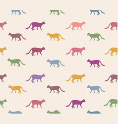 cat seamless pattern pets background kitten vector image