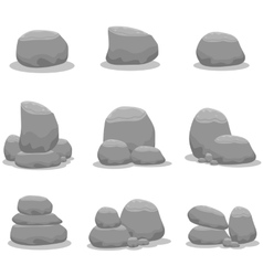 Collection stock of rock set vector