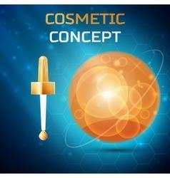 Cosmetic concept icon vector image vector image