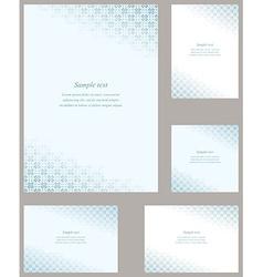 Cyan page corner design template set vector
