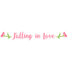 Expression falling in love on white background vector