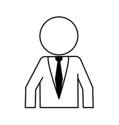 faceless businessman icon image vector image