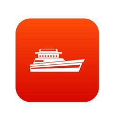 Great powerboat icon digital red vector