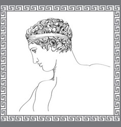 greek sculpture hand drawn sketch engraving mans vector image vector image