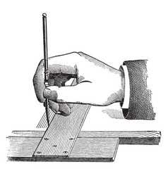 Hand drawing employed in both tasks vintage vector