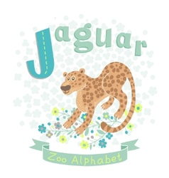 Letter j - jaguar vector