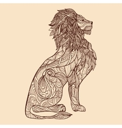 Lion sketch vector