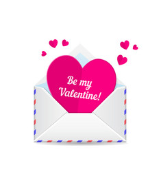 Love mail valentine heart vector