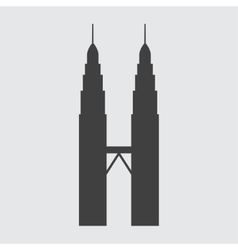 Petronas tower icon vector
