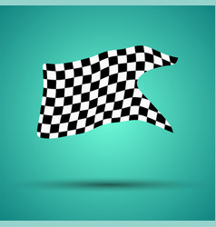 racing background with checkered flag vector image vector image