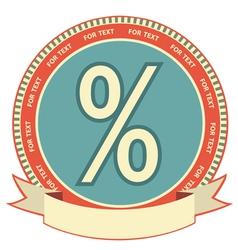 retro percentage label vector image vector image