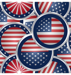 Seamless background with american flag web buttons vector image vector image