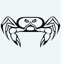 Silhouette crab vector image vector image