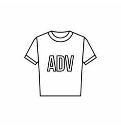 T-shirt with ADV inscription icon outline style vector image vector image
