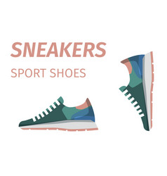 trendy sneakers sport shoes isolated vector image vector image