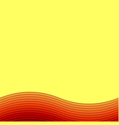 Wavy abstract background from layer stripes - vector