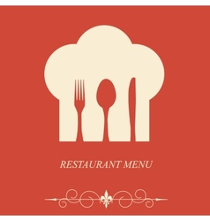 The concept of Restaurant menu on valentines day vector image
