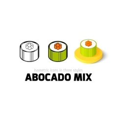Abocado mix icon in different style vector