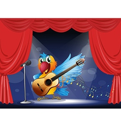 A bird performing above the stage vector