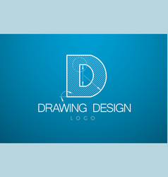 Logo template letter d in the style of a vector