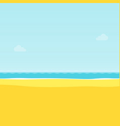 summer tropical sea beach background vector image