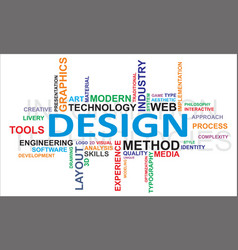 Word cloud design vector